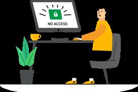 no access illustration